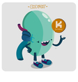 kidney character vector image