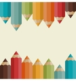 Background with colored pencils in retro style vector image