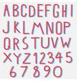 red blue alphabet vector image