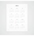 2015 Calendar Template vector image