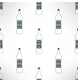 wine bottles seamless pattern in modern vector image