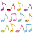 Set of cute colorful note smileys vector image