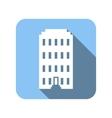 Blue house flat symbol vector image