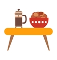 Coffee biscuit flat icon vector image