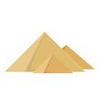 Egypt pyramids vector image