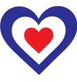French Heart vector image