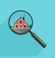 house search with magnifier vector image