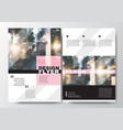 minimal poster brochure flyer design layout vector image