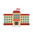 school building facade flag windows vector image