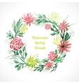 spring floral wreath vector image