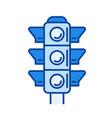 traffic light line icon vector image