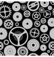 Various cogwheels parts of watch movement seamless vector image