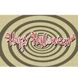 Happy Halloween retro background vector image