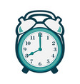 alarm clock in flat style vector image