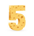 number five on white for design vector image vector image