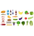 grocery set icon vector image