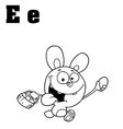 Easter bunny cartoon with letter vector image vector image