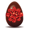 Chocolate Egg with Bow vector image