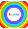 Rainbow Watercolor circle vector image