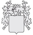 aristocratic emblem No27 vector image vector image