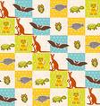 Set of funny animals bat turtle owl tiger kangaroo vector image
