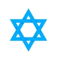 Blue star of David with shadow isolated on white vector image
