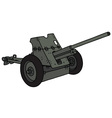 Old khaki cannon vector image