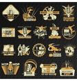 Hiphop Rock Emblem Set vector image