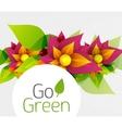 Abstract flower design Go Green concept vector image