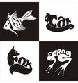 animals logo 2 vector image