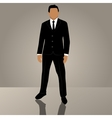 businessman or manager in suit vector image