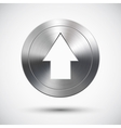 Chrome Up Button vector image