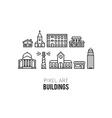 Pixel Buildings vector image