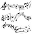 seamless design with music notes vector image