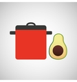 cooking pot icon vector image