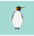 King Penguin Emperor Aptenodytes Patagonicus Flat vector image