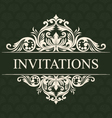 Invitations Ornament vector image