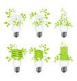 set power saving lamps vector image