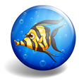 Fish swimming vector image vector image