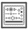 set of graphic frames and design elements vector image vector image