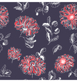 floral sketchy seamless pattern vector image vector image