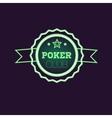 Doble Frame Green Poker Club Neon Sign vector image