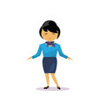 cartoon asian business woman isolated over white vector image