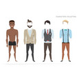 clothing sets for black african american men vector image