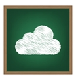 Cloud sign White chalk effect on vector image
