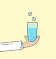 doctor holding glass with medicine vector image
