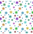 Flower color on white seamless pattern vector image