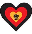 Germany Heart vector image