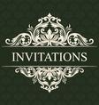 Invitations Ornament vector image