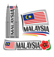 logo malaysia vector image